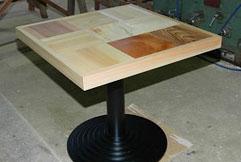 多摩産材9種類パズル型ティーテーブル